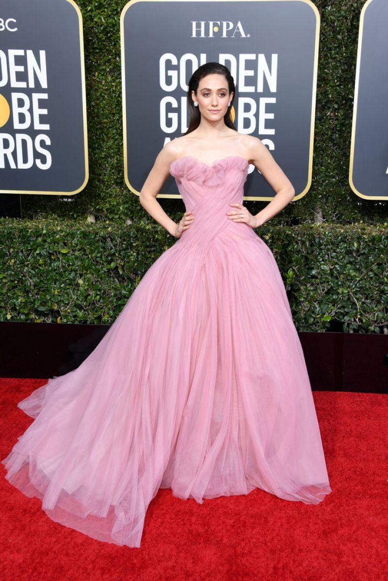 EMMY ROSSUM at 2019 Golden Globe Awards in Beverly Hills