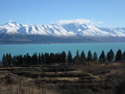 Lago Pukaki. Nueva Zelanda