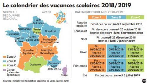 Calendrier Scolaire France.Io Studio Francese Le Calendrier Scolaire En France