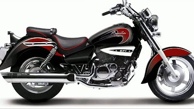 New Hyosung Aquila 250 red & black  right side view