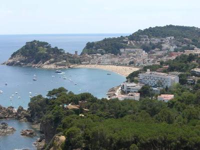 Vila Vella y Platja Gran de Tossa de Mar