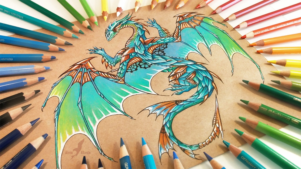 05-Copper-wings-Alvia-Alcedo-Dragon-and-other-Mythical-Fantasy-Drawings-www-designstack-co