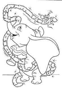 Coisinhas para Crianças Dumbo para Colorir