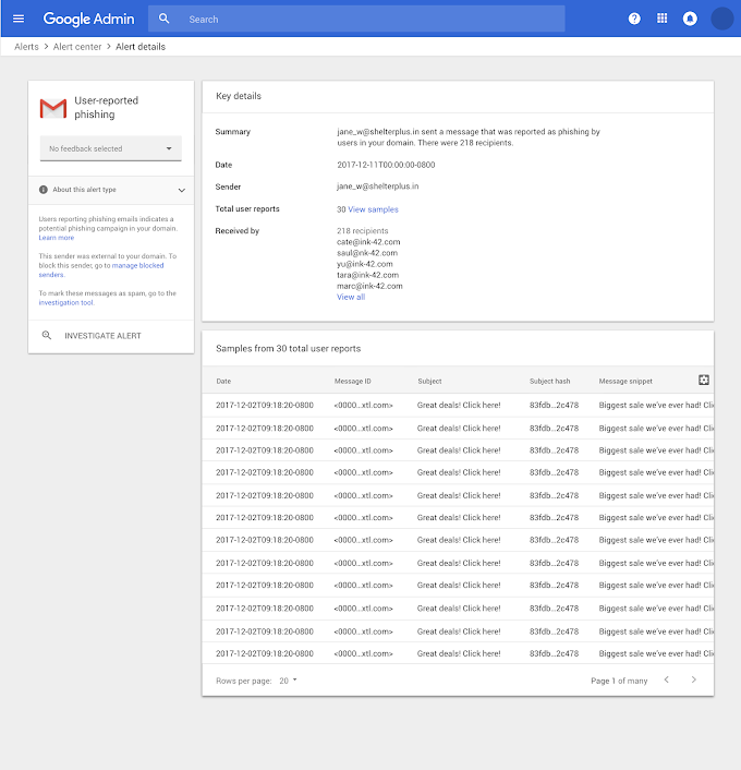Alert center for G Suite generally available to help identify Security Threats