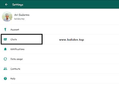 Pengaturan profile whatsapp