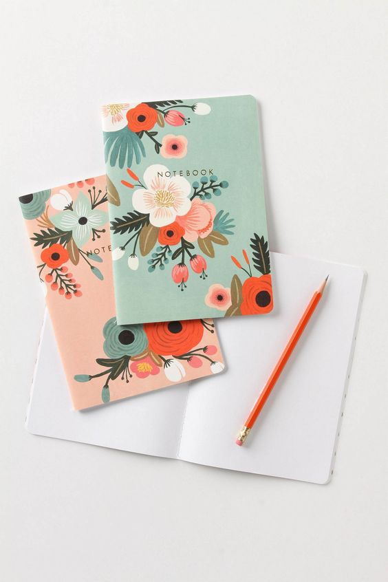anthropologie, stationary, organizing rifle paper co notebook, flowers, anna bond