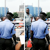 Photo: Road Users Stop Lady From Committing Suicide On CMS Bridge Today