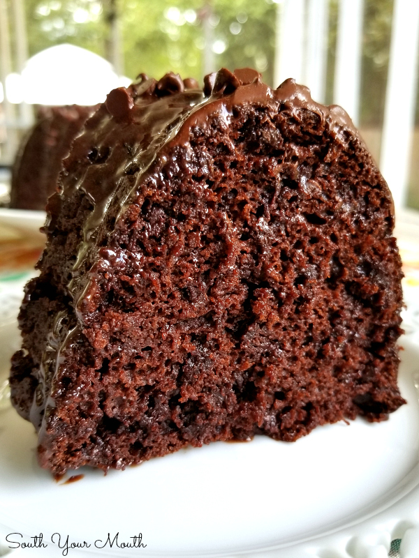 Impossible 5-Ingredient Chocolate Cake | A moist, fudgy, decadent chocolate bundt cake recipe made with just five ingredients.