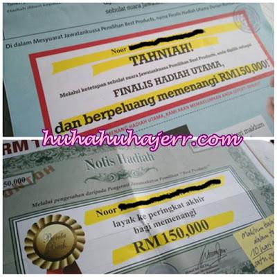 Peluang Memenangi RM150 Ribu Yang Tak Releven....