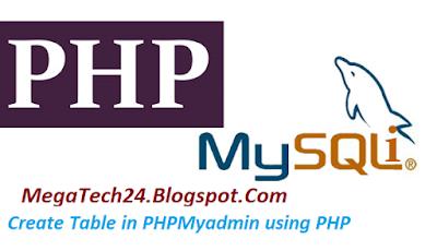 PHP MySQLi Table Creation