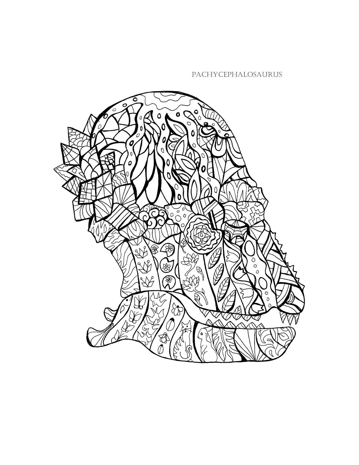 prehistoric skulls coloring book