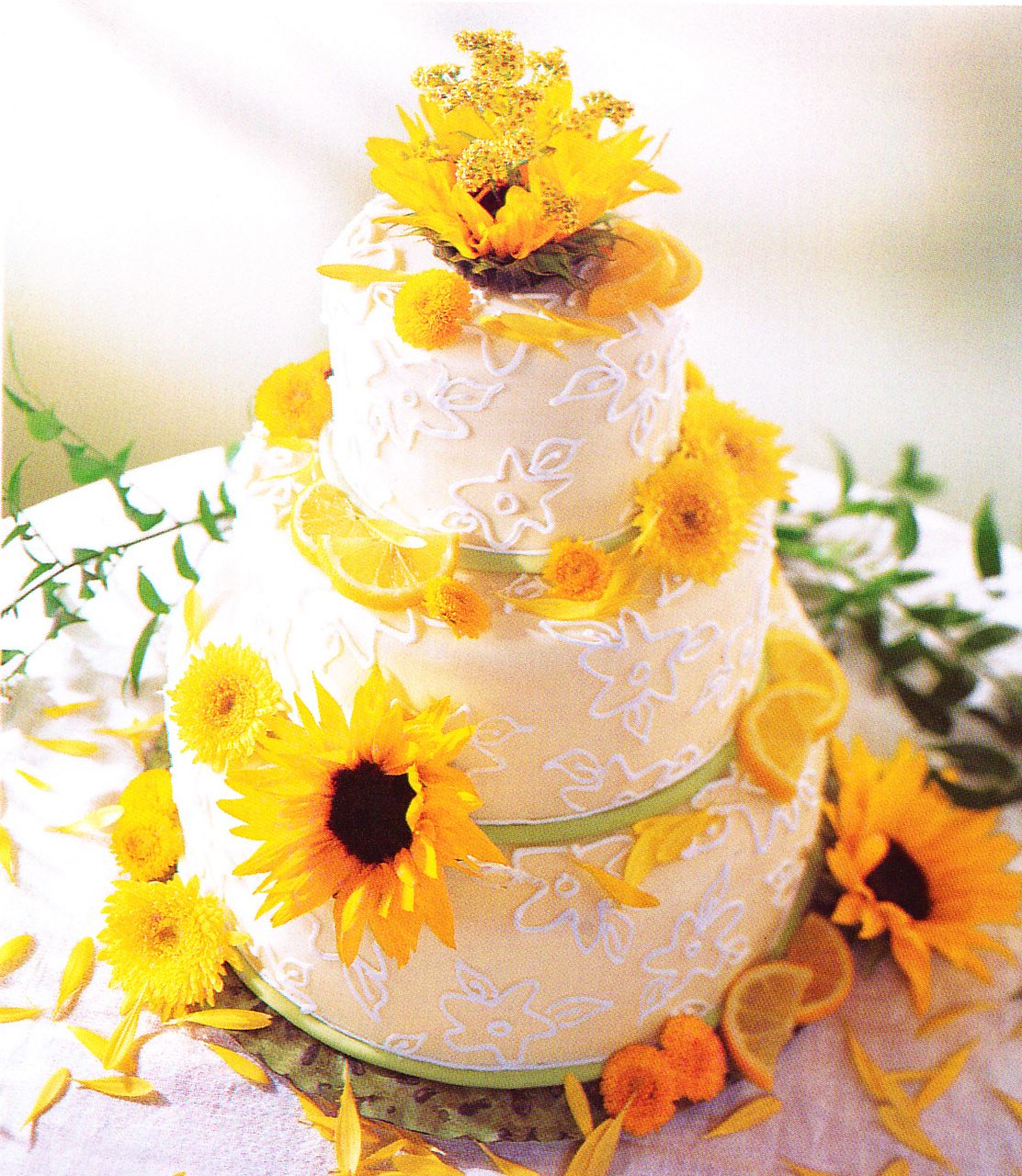 Sunflower Wedding Cake Ideas: Edelweiss Flower Boutique And Florist: Summer Flowers-Meet