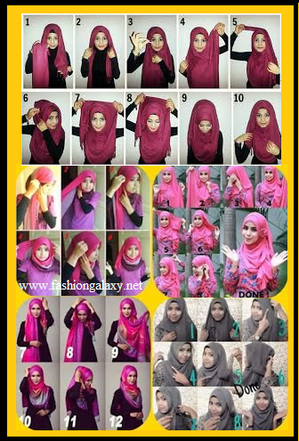 hijab fashion step by step
