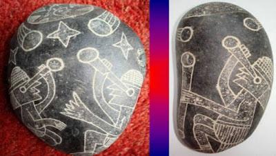 Περού: Ένα από τα μεγαλύτερα αινίγματα - Οι πέτρες Ica απεικονίζουν ανθρώπους να συνυπάρχουν με δεινόσαυρους [φωτό]