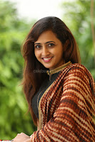 Lasya looks super cute in black choli Saree at Raja Meru Keka Press Meet ~  Exclusive 042.JPG