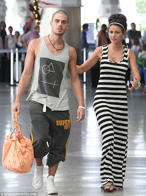 Sad Times Max George And Michelle Keegan Arrive At The Airport Ready To Leave Barbados For Cold Streets Of Manchester