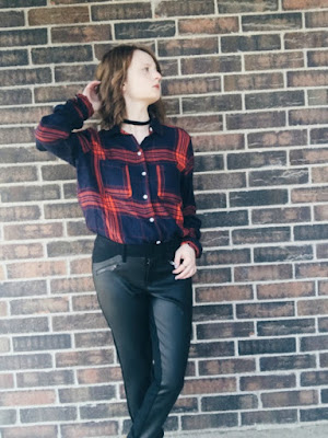 Flannel & Leather Leggings