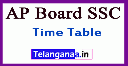 AP Board SSC Time Table