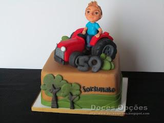 bolo decorado agricultura