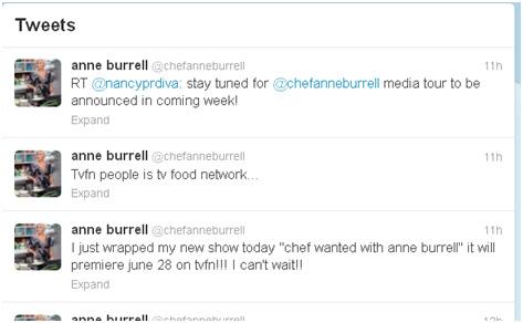 Chef Anne Burrell Twitter