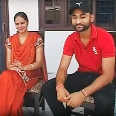 Sandeep Singh with wife Harjinder Kaur