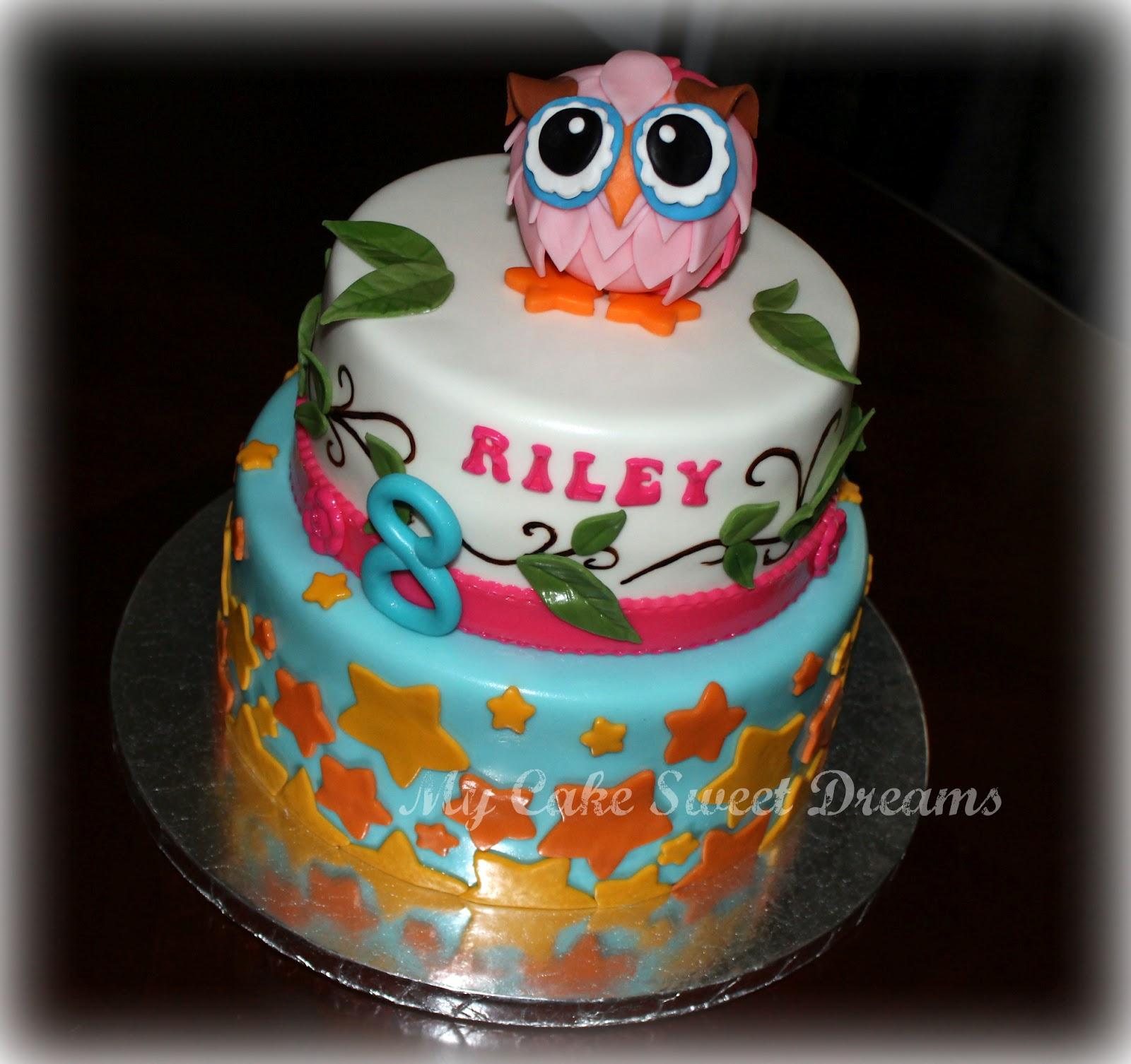 Mycakesweetdreams Owl Birthday Cake