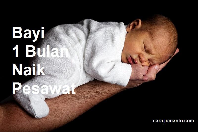 Syarat dan Ketentuan Bayi 1 Bulan Naik Pesawat