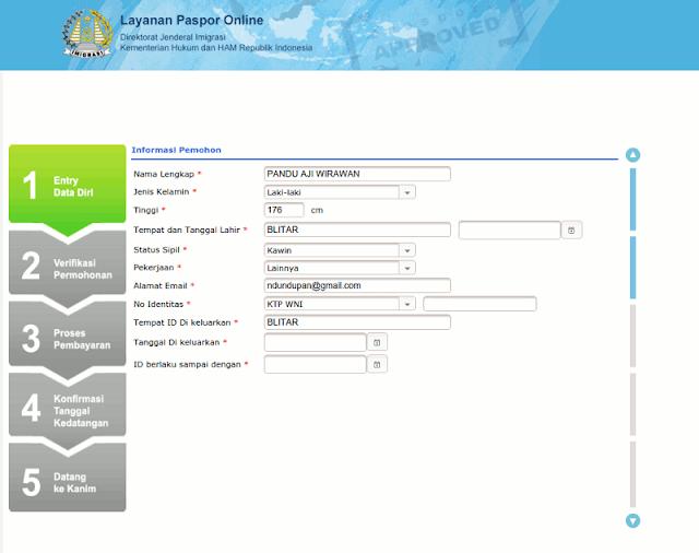 Informasi Pemohon Paspor