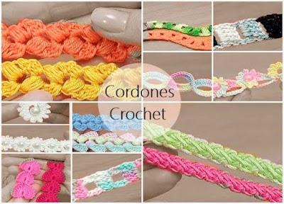Cómo tejer cordones de crochet con infinidad de formas