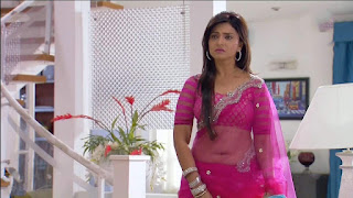 Aleeza Khan TV Show Actress in Transparent Saree