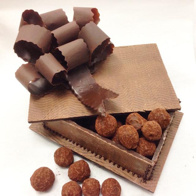 Chocolate Bow Used as Decoration on Chocolate Box
