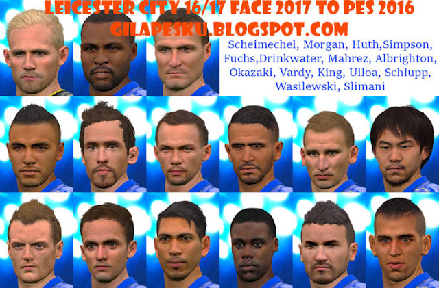 Leicester City 2016-2017 Face 2017 to PES 2016