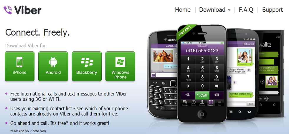 Viber opens free group texting and free improved HD VoIP calling