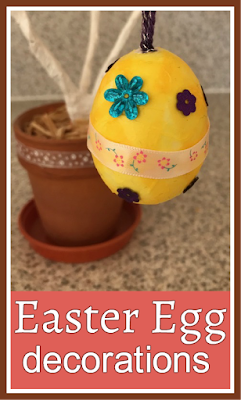 Decorated Easter egg simple craft for children