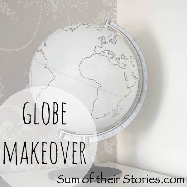 White and Silver globe makeover