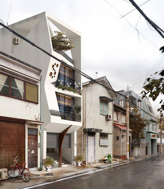 Nhà phố đẹp trên khu phố cũ
