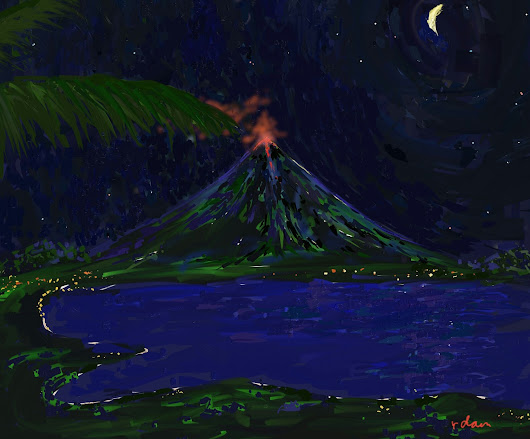 Mayon Volcan 2018 Eruption at Night