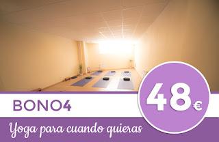 Bono de 4 clases de yoga en Zaragoza