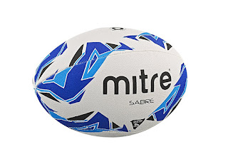 Deals limit Mitre Sabre Rugby Training Ball for kids £4.24 Colour: White/Blue/Cyan