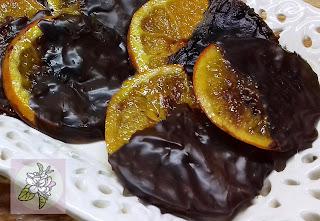 Naranja Caramelizada Cubierta de Chocolate.