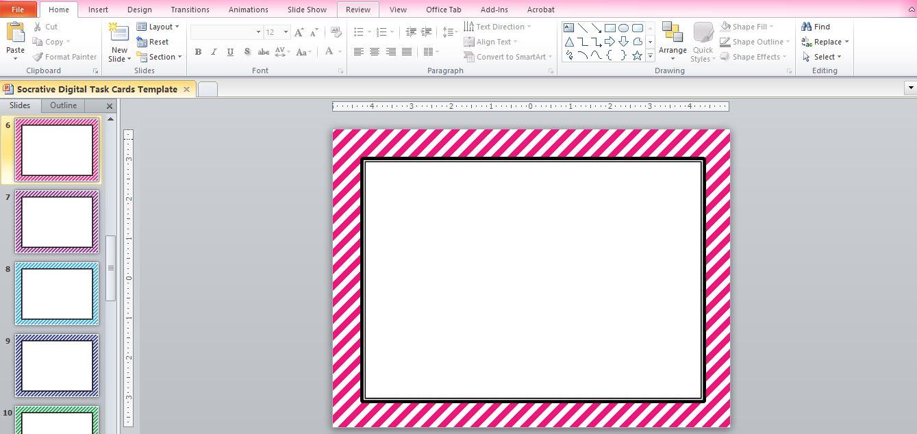 "task card template ☆ Rockstar Math Teacher ☆: Socrative 101 - Making ""Digital Task Cards"""