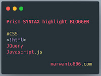 Cara Pasang Syntax Highlight di Blogger