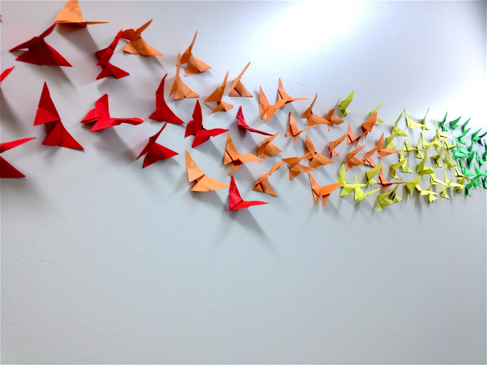 Butterfly Origami Wall - photo#38