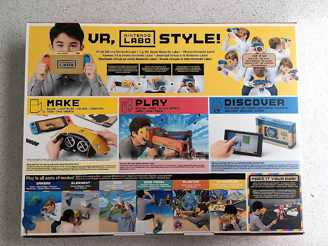 Nintendo labo vr kit back of box