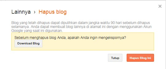 cara menghapus blogger