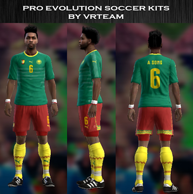 PES 2013 Cameroon 2016 home kit by vladroman