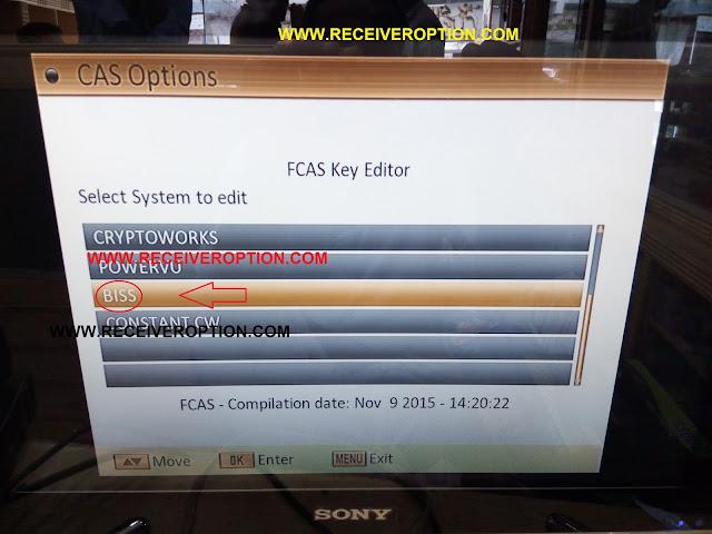 SUPER GOLDEN LAZER 9000 HD RECEIVER BISS KEY OPTION