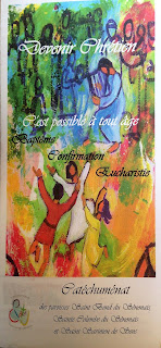 flyer service du catéchuménat de Sens Paron Saint Clément Yonne
