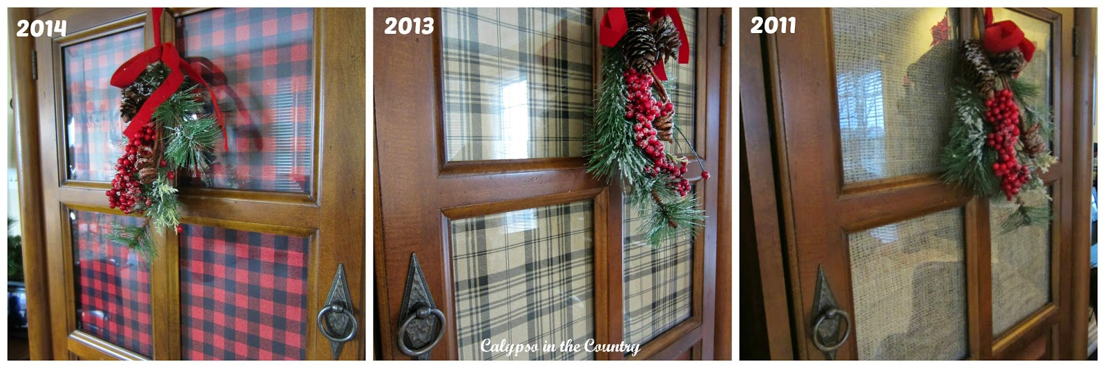 3 Looks for Cabinet Doors Using Wrapping Paper
