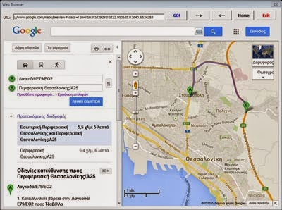 Google Maps In Web Browser Control